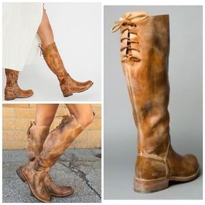 Bed Stu Manchester Tan Rustic Lace Up Boots NIB